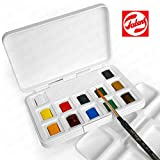 Royal Talens - Van Gogh Water Colour - Pocket Box of 12 Paints with Brush