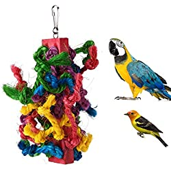 Bird Ladder - Colorful Sisal Pet Bird Cotton Rope Chewing Parrot Exercise Playing Climbing Toy Hamster Parakeet - Parrots Large Parakeets Toys Story Sturdy For And Metal Spiral