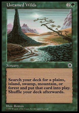 MTG card Plains portal basic land x 4 all same art version 1
