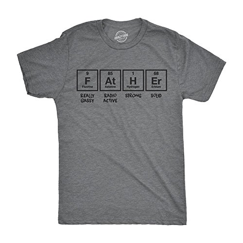 Crazy Dog T-Shirts Mens Father Periodic Table Tshirt Funny Nerdy Science Dad Tee for Guys
