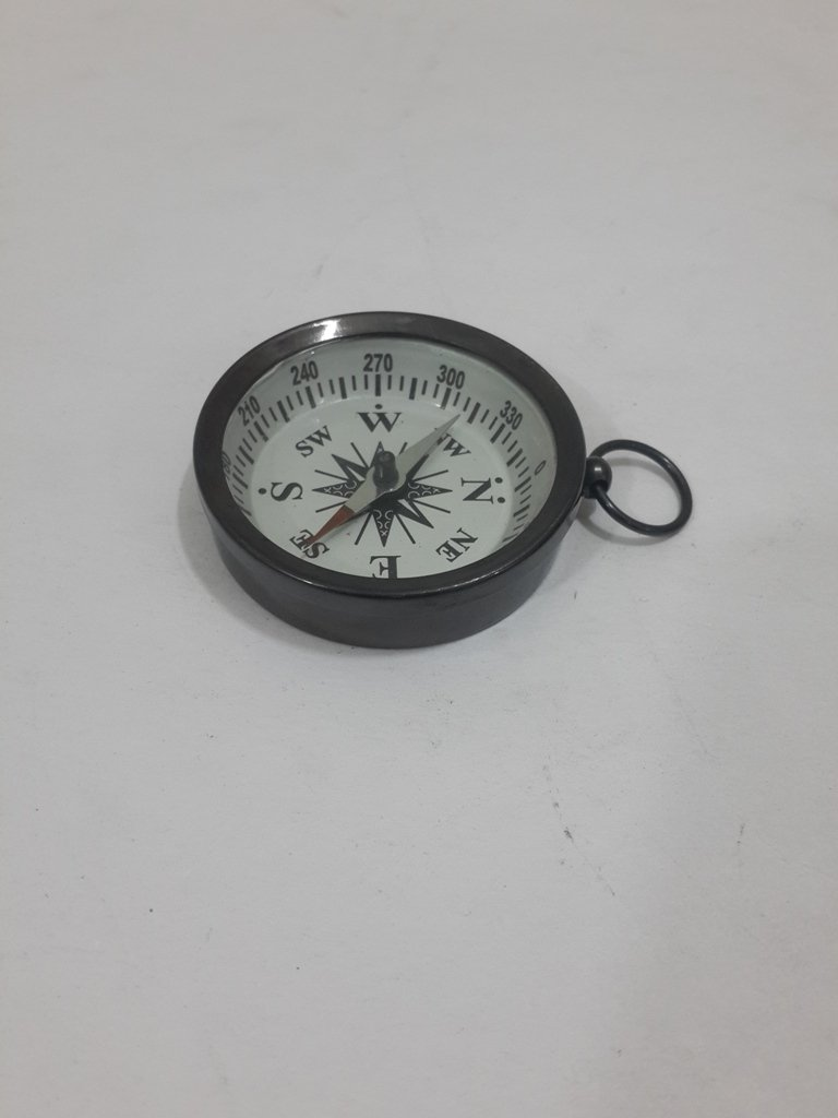 Solid Brass Pocket Compass with device THORINSTRUMENTS 1.75 Bronze 1.75 THOR INSTRUMENTS CO