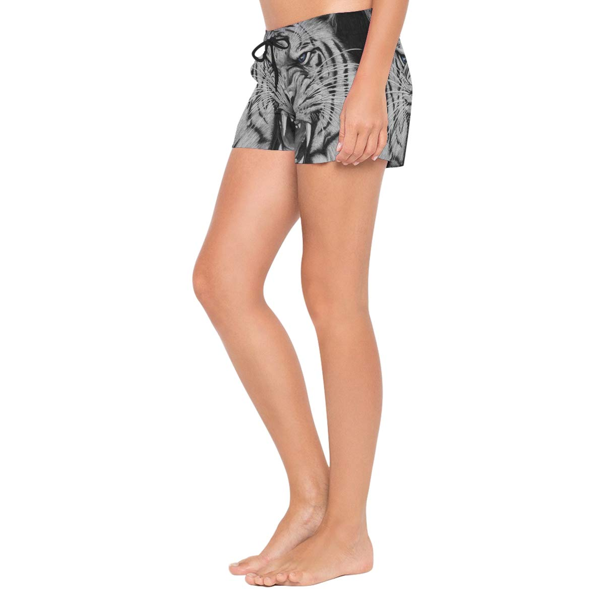 Cool Tiger Womens Sport Beach Swim Shorts Board Shorts Swimsuit with Mesh Lining
