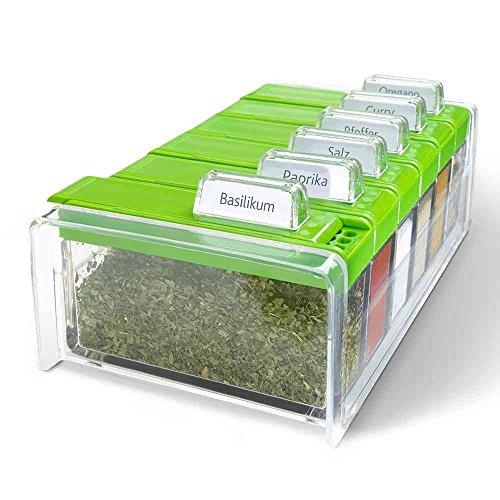 Gewürz-Kartei SPICE BOX transparent/grün