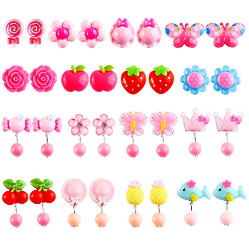 Clip On Earrings Kids - Aneco 16 Pairs Jewelry Clip on