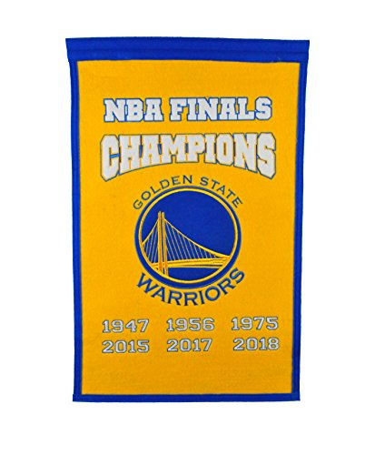 Winning Streak Golden State Warriors 2018 NBA Champions Champs Banner (Nba Championship Banner)