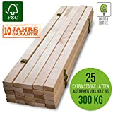 HansaBirke Slatted Frame 300 kg 25 Slats Extra Strong Bed Frame Made from Real Birch Wood FSC Untreated Slatted Frame Premium Wooden Slatted Frame, 80 x 200 cm