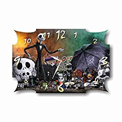 The Nightmare Before Christmas 11'' x 18' Handmade Wall Clock - Get Unique décor for Home or Office - Best Gift Ideas for Kids, Friends, Parents and Your Soul Mates.