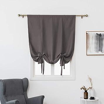 Raylans 1 Pc Stores Romains Couleur Unie Rideau Occultant Décoration De  Fenêtre Chambre/Salle De