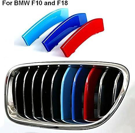 2014-2017/-/Se fixe dans la grille par simple clipsage F18 10/barres de calandre BMW S/érie 5 M Tech Style d/écoratif /à rayures M Sport F10 Gammes M Power