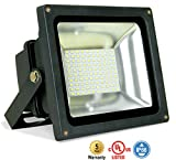 8-PACK ASD LED Floodlight 50W SMD Outdoor Landscape Security Waterproof UL Listed 4000K (Bright White) WITH A 8'' CORD