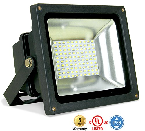 8-PACK ASD LED Floodlight 50W SMD Outdoor Landscape Security Waterproof UL Listed 4000K (Bright White) WITH A 8'' CORD by ASD Lighting Corporation