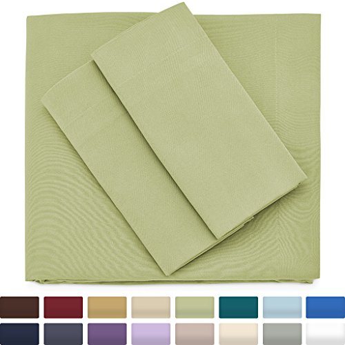 Premium Bamboo Bed Sheets - King Size, Sage Green Sheet Set - Deep Pocket - Ultra Soft Cool Bedding - Hypoallergenic Blend From Natural Bamboo - 1 Fitted, 1 Flat, 2 Pillow Cases - 4 (Forest Green Sage)
