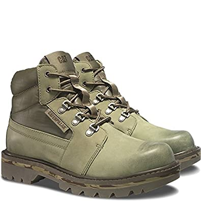 Amazon.com | Caterpillar Junction Work Hiking Casual Olive Leather Men's Boots | Shoes