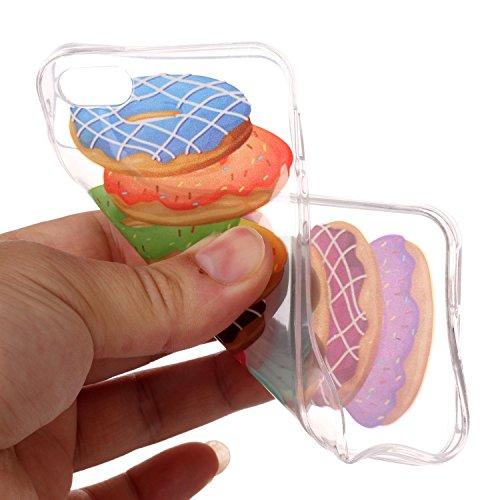 Coque iPhone SE / 5 / 5S Hamburgers en couleur Premium Gel TPU Souple Silicone Transparent Clair Bumper Protection Housse Arrière Étui Pour Apple iPhone SE / 5 / 5S + Deux cadeau