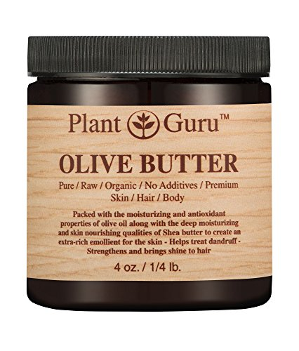 Olive Body Butter 4 oz. 100% Pure Raw Fresh Natural Cold Pressed. Skin Body and Hair Moisturizer, DIY Creams, Balms, Lotions, Soaps.