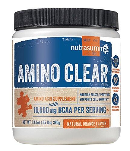 Nutrasumma Amino Clear, Natural Orange Flavor - 374g