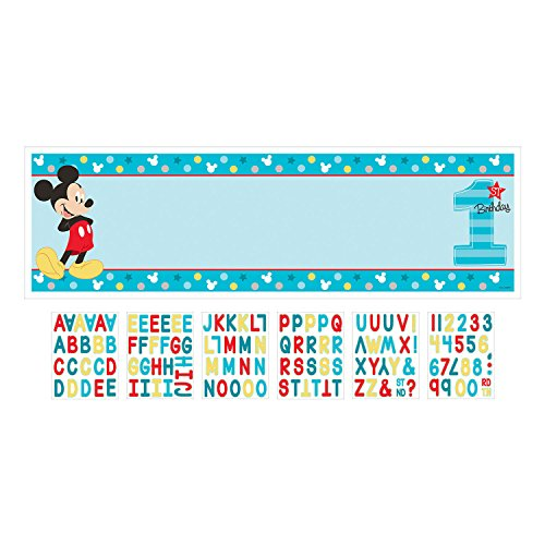 Disney Mickey's Fun to be One Personalized Giant Banner Kit, Birthday