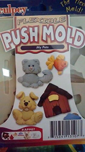 Sculpey push mold My Pets dog cat - Sculpey Push Mold