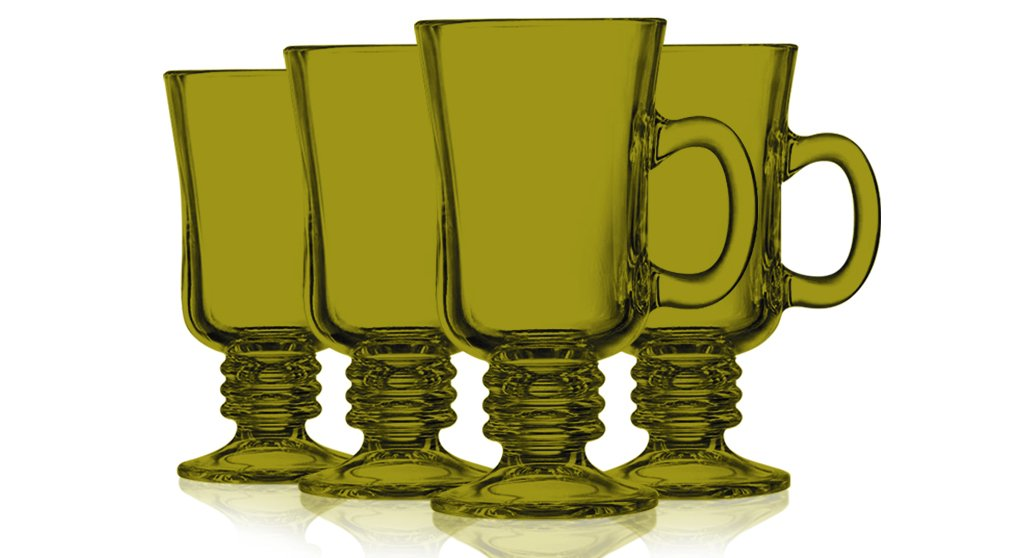 Amber Irish Coffee Mug Fully Colored - 8.5 oz. set of 4- Additional Vibrant Colors Available