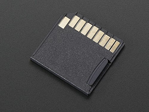 Adafruit Black Shortening microSD Adapter for Raspberry Pi & Macbooks [ADA1763]
