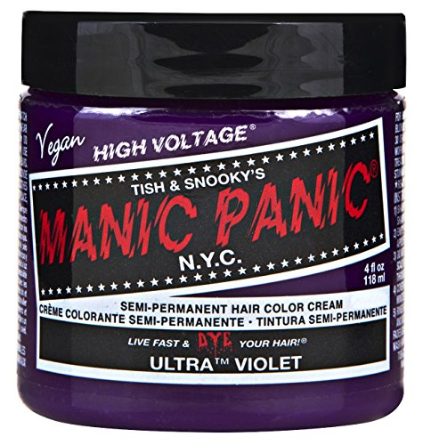 Manic Panic Semi-Permament Haircolor Ultra Violet 4oz Jar (2 (Ultraviolet Color)