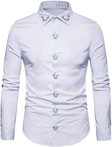 Camisas Casual Hombre Manga Larga, Covermason Blusas con Botones de Manga Larga con Hipster Aptos para Hombres: Amazon.es: Ropa y accesorios