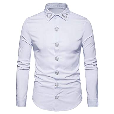 Camisas Casual Hombre Manga Larga, Covermason Blusas con Botones ...
