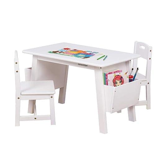 Mesa y sillas de madera maciza para niños, mesa de estudio de ...