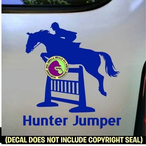 HUNTER JUMPER Vinyl Decal Sticker E