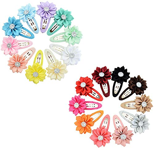 - Xinshi Cute Cat Ear Hair Clips Bears Ear Barrettes Bow for Baby Girl Toddlers Kids (XS-V(20PCS))