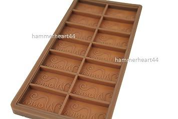 """DIY de Willy Wonka Fábrica De Chocolate Bar Casting Mold molde 7,5 """""""