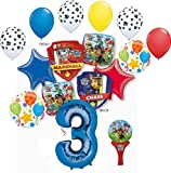 Paw Patrol Party Supplies Chase, Marshal and friends 3rd Birthday Balloon Bouquet Decorations