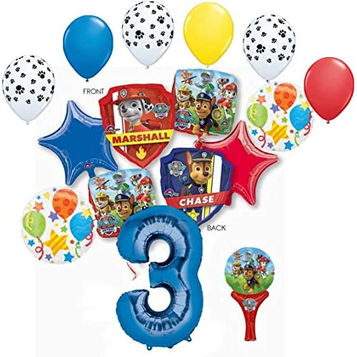 5TH BIRTHDAY  3 PACK  FOIL BALLOON DISPLAY No Helium Needed TABLE DECORATION