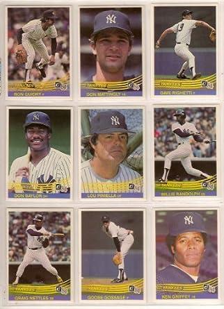 New York Yankees 1984 Donruss Baseball Team Set Don Mattingly Rookie Ken Griffey