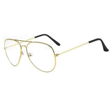 aviator type glasses  Forepin庐 Unisex Aviator Style Eyeglasses Metal: Amazon.co.uk ...