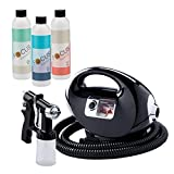 Fascination Spray Tanning Kit Machine Bundle with Tanning Solution(Black)
