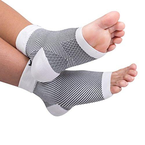 Bitly Plantar Fasciitis Socks (1 Pair) Premium Ankle Support foot Compression Sleeve ()
