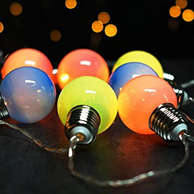 BRIGHT ZEAL Globe LED String Lights with Timer