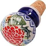 Polish Pottery Ceramika Boleslawiec 0804/280 Motif Wine Stopper, Royal Blue Patterns
