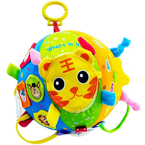 BLLKE Baby Toys, Multi Roll Ball Hanging Toy, Soft Colorful Early Education Developmental Activity Discover Roll Ball Toys for Toddler Kids Boys Girls