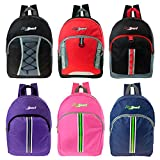 17'' Wholesale Sport Backpack in 6 Styles and Colors - Bulk Case of 24 Bookbags