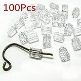 Sonline 100 pz ferma orecchini media 3mm traslucido