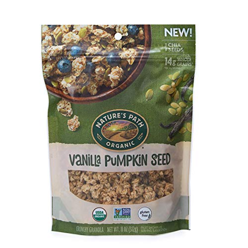 Nature's Path Vanilla Pumpkin Seed Granola, Healthy, Organic, 11-Ounce Pouch (Pack of 8)