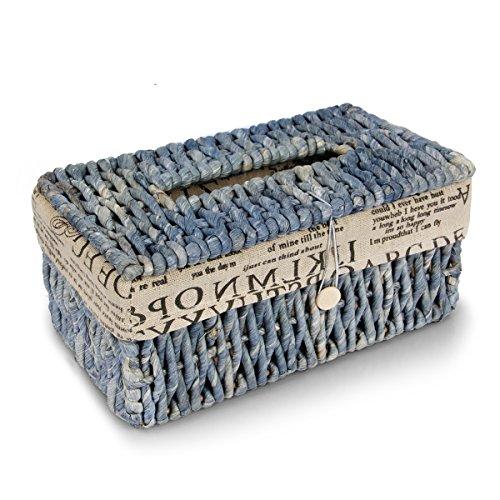 Home-organizer Tech Tissue Box Holder Hand Woven Rectangular Room Office Car Tissue Box Cover