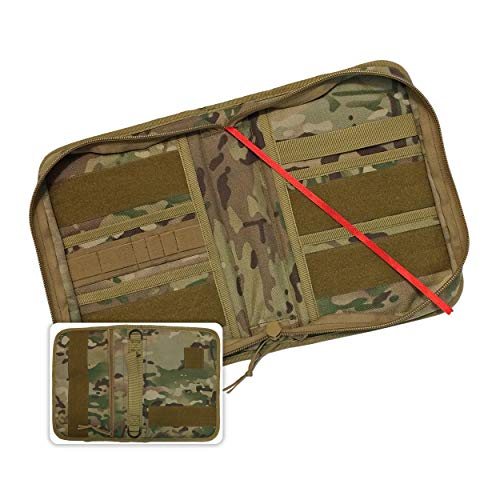 Military Style Medium Bible Cover & Organizer for Men - Personalize Your Camo Bible Case with Morale Patches That Reflect Your Beliefs. (Multicam)