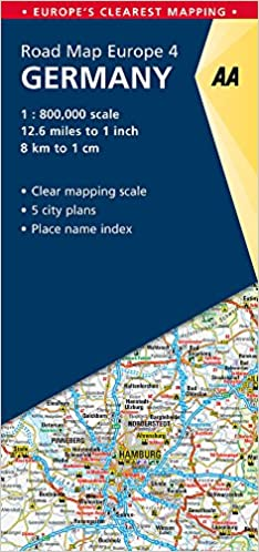 AA Road Map Germany (Road Map Europe) (AA Road Map Europe ...