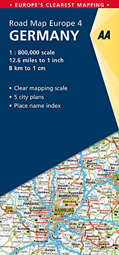 Road Map Germany (Road Map Europe) (Aa Road Map)