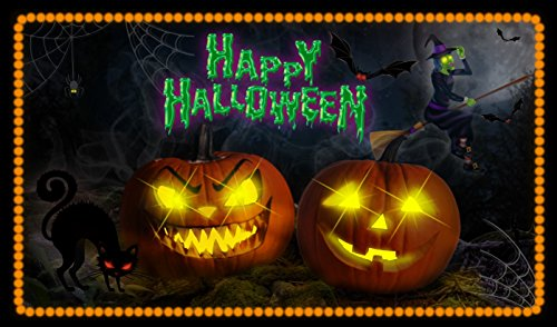 Halloween Decor Youtube (Halloween Spooky Screaming Haunted LED Glowing Trick or Treat Doormat)