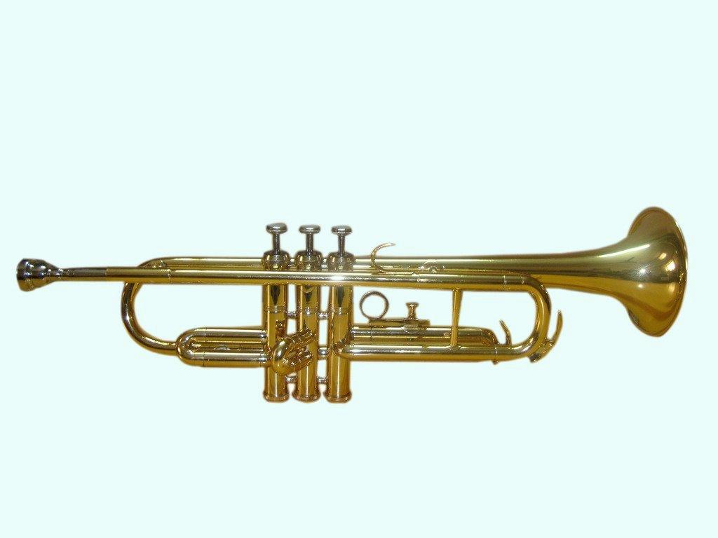 Global Art World Top Grade Quality Bb Pitch Flat Brass Finishing Trumpet Along With A Mouthpiece MI 065