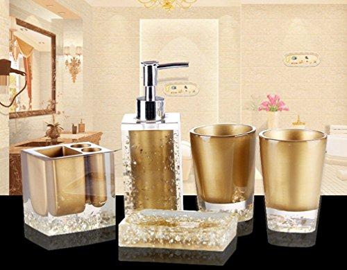 Bellabrunnen 5-teiliges Design Badset Strasssteine Seifenspender WC ...